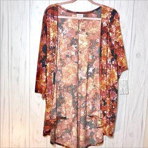 NWT LuLaRoe Multicolored Lindsay Kimono | L